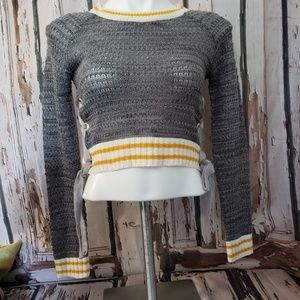 Say What? Crop Sweater